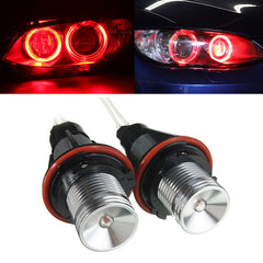 Paar Rode Angel Eyes LED Verlichting Ring Marker Xenon HID voor BMW E39 E60 E53 E65