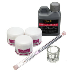 Pro Acryl Nail Art Set Kit Crystal Powder Vloeibare Manicure
