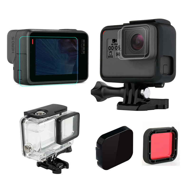 Voor gopro hero 5 black action camera accessoires set Waterdichte ...