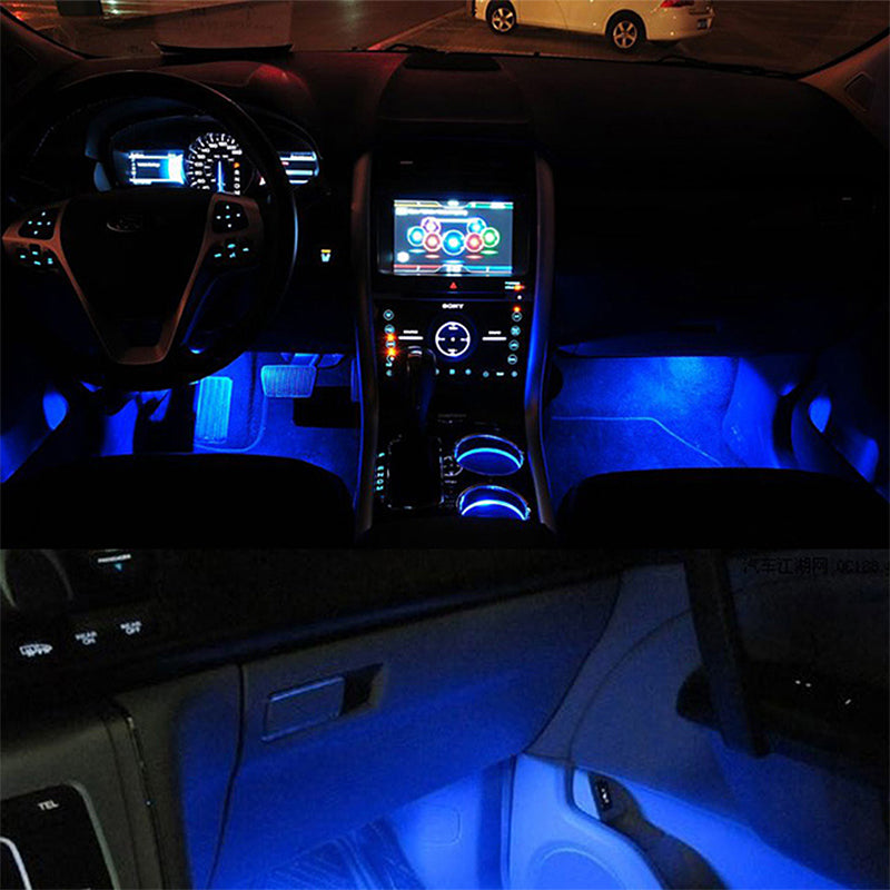 itimo 4 in1 blauwe auto sfeer lights led lamp decoratieve lamp glow auto interieur lichtbron auto
