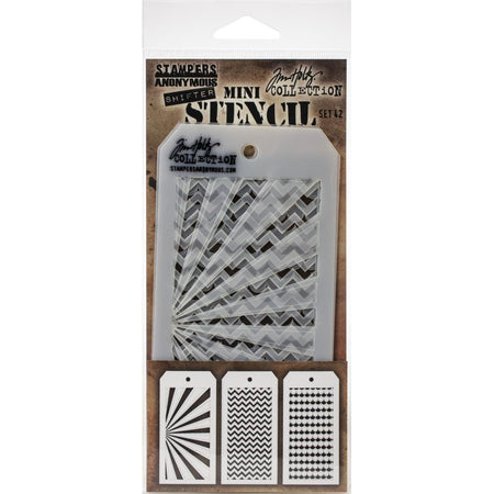 Tim Holtz Mini Layering Stencil - Set 42