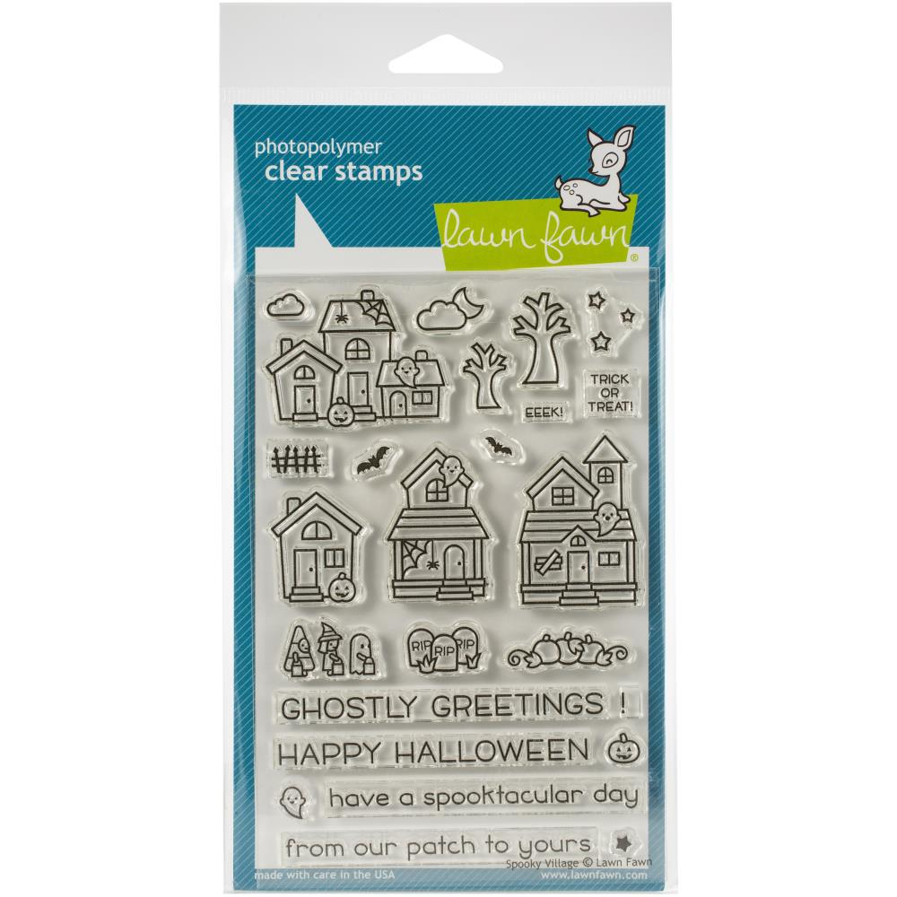 Lawn Fawn Clear Stamps - Spooky Village