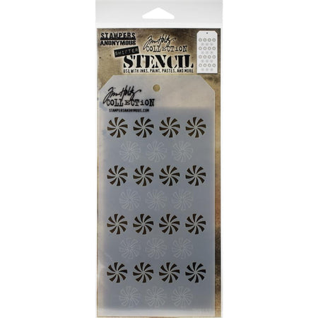 Tim Holtz Layering Stencil - Shifter Peppermint