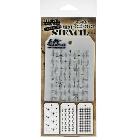 Tim Holtz Mini Layering Stencil - Set 44
