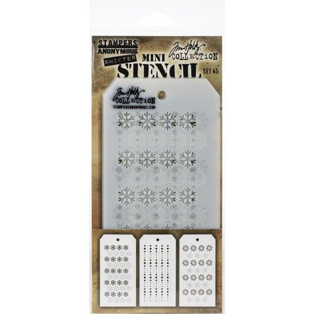 Tim Holtz Mini Layering Stencil - Set 45