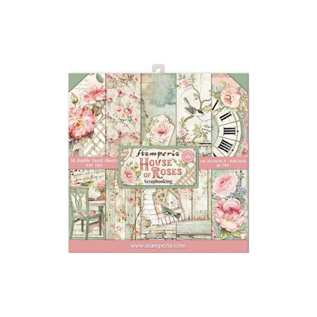 Stamperia House of Roses - 8x8 Paper Pack