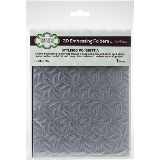 Creative Expressions 6x7.5 3D Embossing Folder - Stylised Poinsettia