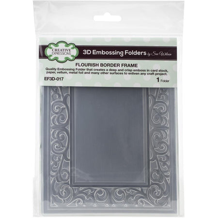 Creative Expressions 6x7.5 3D Embossing Folder - Flourish Border Frame
