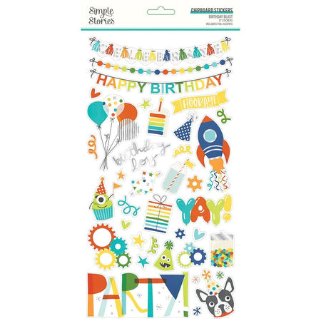 Simple Stories Birthday Blast  - Chipboard Stickers