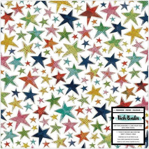 American Crafts Vicki Boutin Let's Wander - Stars Printed Vellum