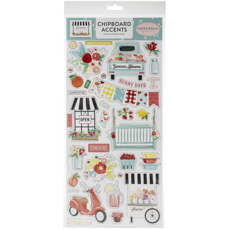 Carta Bella Summer Market - Chipboard Accents