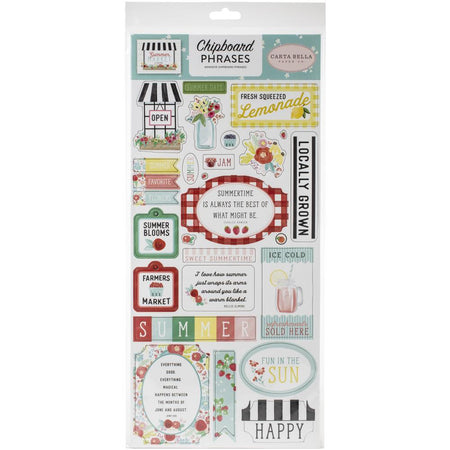 Carta Bella Summer Market - Chipboard Phrases