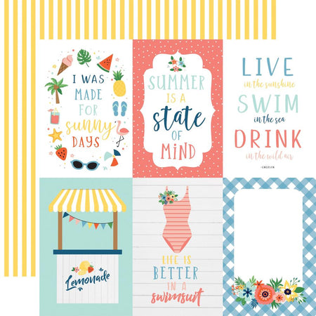 Echo Park Summertime - 4 x 6 Journaling Cards