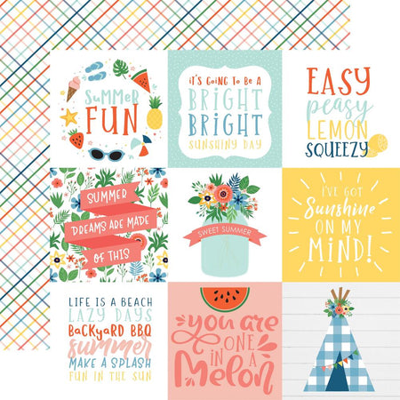 Echo Park Summertime - 4 x 4 Journaling Cards