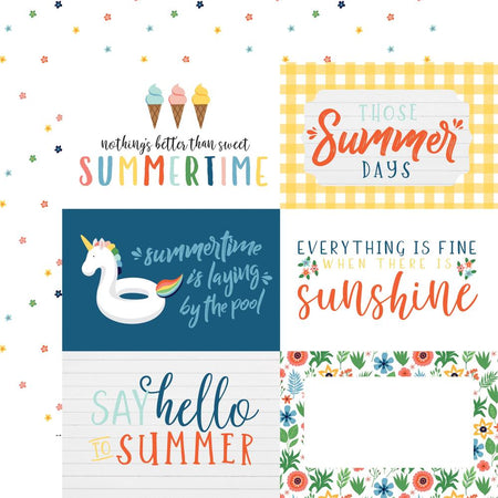 Echo Park Summertime - 6 x 4 Journaling Cards