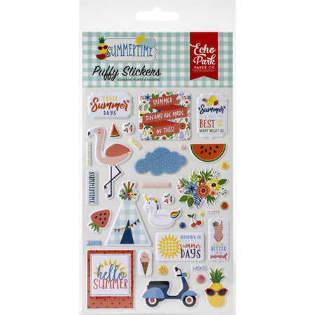 Echo Park Summertime - Puffy Stickers