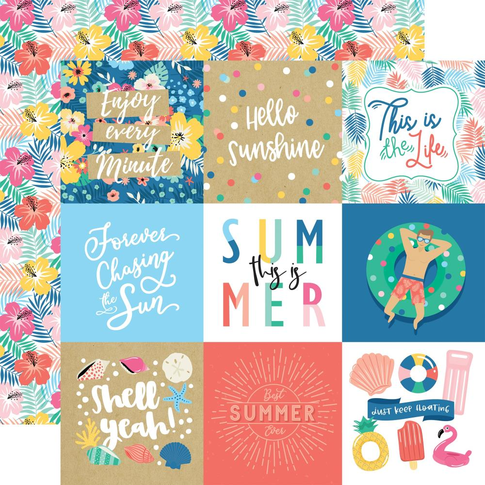 Echo Park Dive Into Summer - 4x4 Journaling Cards