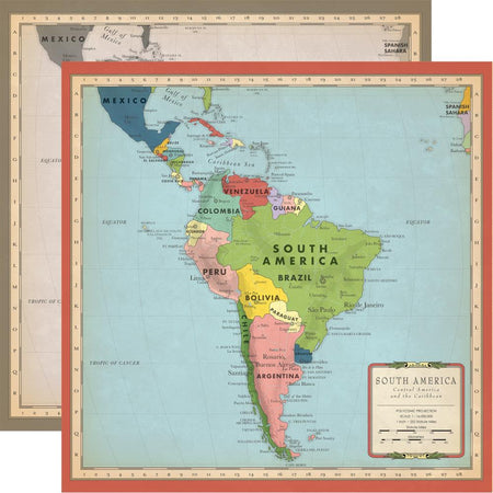 Carta Bella Cartography No. 2 - South America