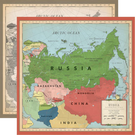 Carta Bella Cartography No. 2 - Russia