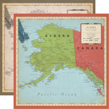 Carta Bella Cartography No. 2 - Alaska