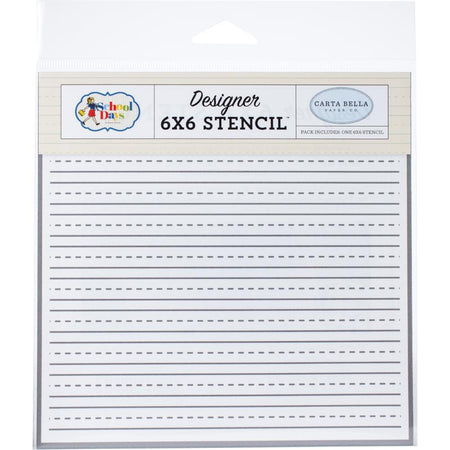Carta Bella School Days - Lined Paper Stencil