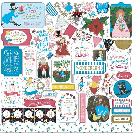 Echo Park Alice in Wonderland No. 2 - Element Stickers