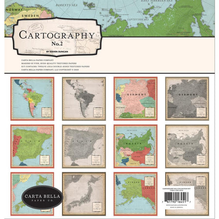 Carta Bella Cartography No. 2 - Collection Kit