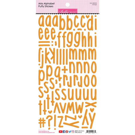 Bella Blvd Aria Puffy Alphabet Stickers - Orange