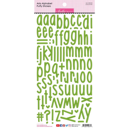 Bella Blvd Aria Puffy Alphabet Stickers - Guacamole