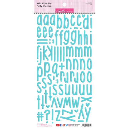 Bella Blvd Aria Puffy Alphabet Stickers - Ice