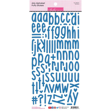 Bella Blvd Aria Puffy Alphabet Stickers - Blueberry
