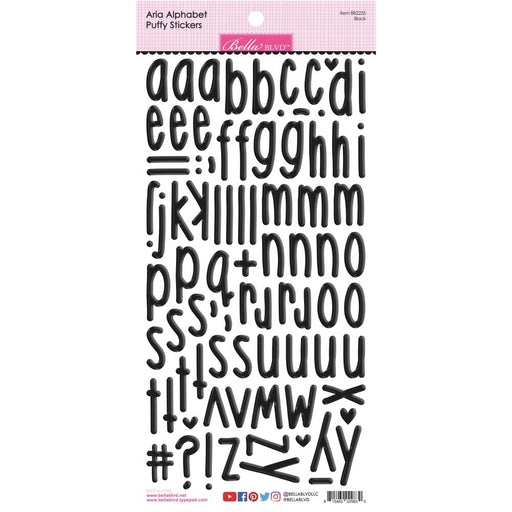Bella Blvd Aria Puffy Alphabet Stickers - Black