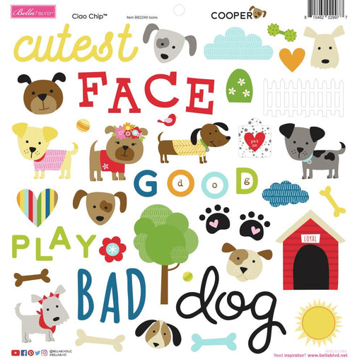 Bella Blvd Cooper - Ciao Chip Chipboard Stickers