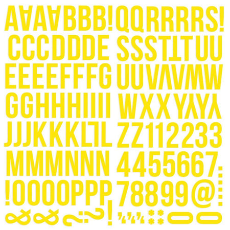 Simple Stories Color Vibe Foam Alpha Stickers - Yellow