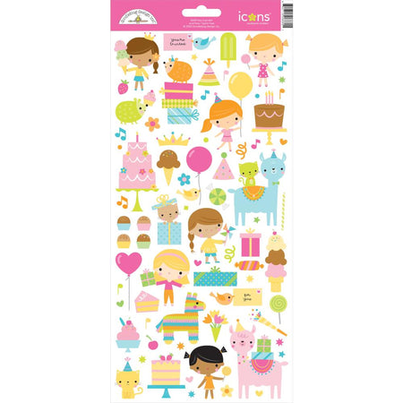 Doodlebug Design Hey Cupcake - Icon Stickers