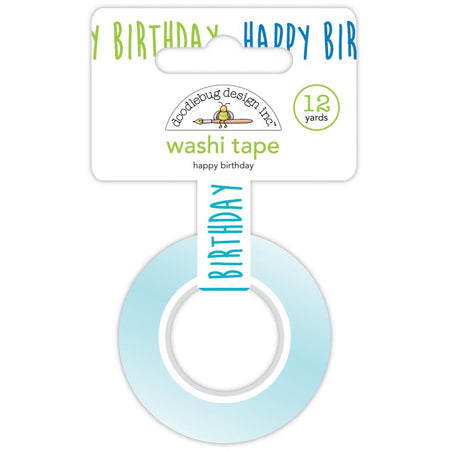 Doodlebug Design Party Time - Happy Birthday Washi Tape
