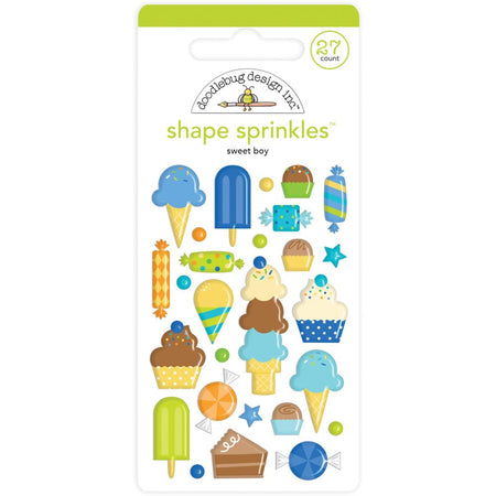 Doodlebug Design Party Time - Sweet Boy Shape Sprinkles