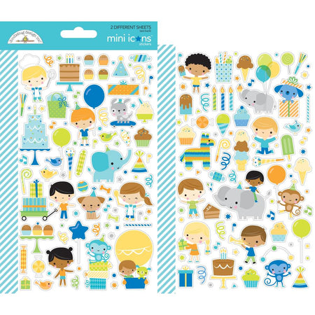 Doodlebug Design Party Time - Mini Icon Stickers