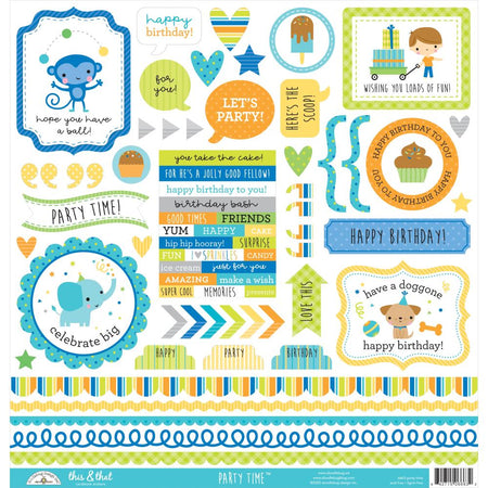Doodlebug Design Party Time - This & That Stickers