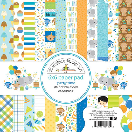 Doodlebug Design Party Time - 6x6 Pad