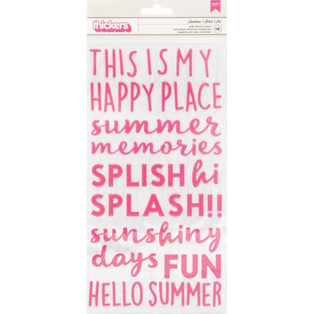 Pebbles Sun & Fun - Sunshine Puffy Phrase Thickers