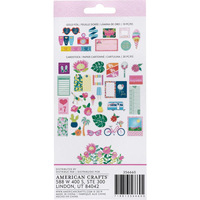 American Crafts Dear Lizzy Here & Now - Ephemera Cardstock Shapes