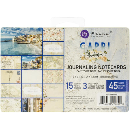 Prima Capri - 4 x 6 Journaling Cards