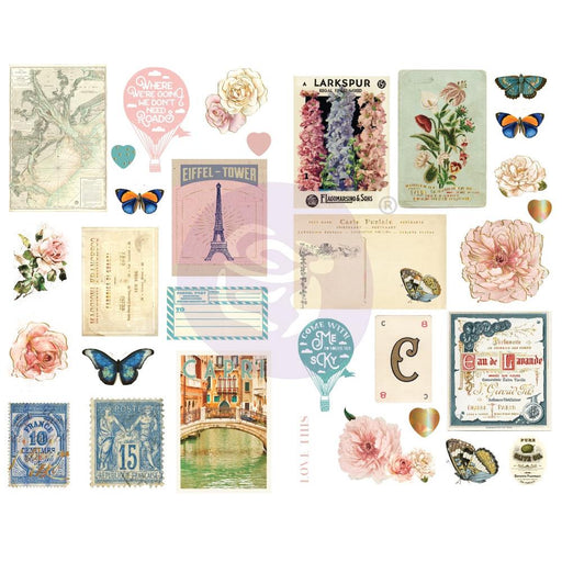 Prima Capri - Chipboard Stickers with foil