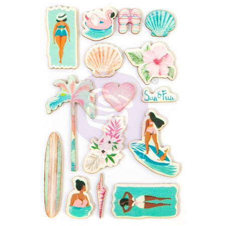 Prima Surfboard - Wood Stickers