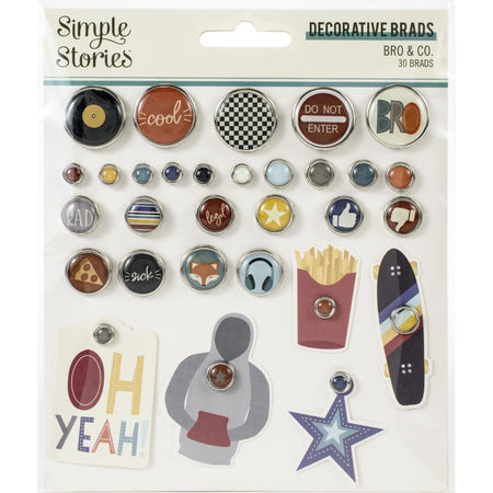 Simple Stories Bro & Co. - Decorative Brads