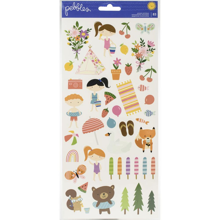 Pebbles Sun & Fun - Accent Stickers