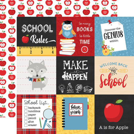 Echo Park School Rules - 4x4 Journaling Cards