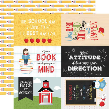 Echo Park School Rules - 4x6 Journaling Cards