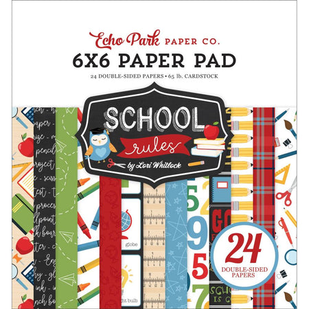 Echo Park School Rules - 6x6 Paper Pad